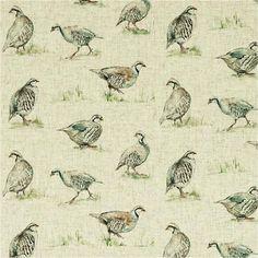 Clarke & Clarke Dawn Chorus Linen Curtain Fabric | Curtain Factory Outlet