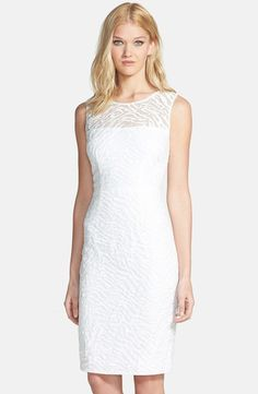 $298, BCBGMAXAZRIA Alice Illusion Yoke Animal Stripe Lace Dress. Sold by Nordstrom. Click for more info: https://lookastic.com/women/shop_items/35541/redirect
