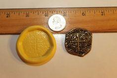 Gold Dubloon Pirate Coin Flexible Silicone door KeepsakesByTheSea, $8.00