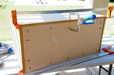 Kara at Life with Fingerprints used her Kreg Jig and Kreg Clamps to build a DIY Toy Box.