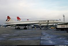Concordes just love having their belly scrubbed. - Photo taken at London - Heathrow (LHR / EGLL) in England, United Kingdom on April 2, 1979.