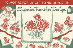 Vintage Embroidery Transfers – Superior 154