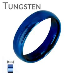 Blue Bayou 4mm  - Tungsten Carbide 4mm Polished Traditional Wedding band