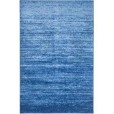 Adirondack Light Blue/Dark Blue Area Rug