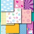 This collection includes a set of 10 royalty-free backgrounds. The 10 different styles are stars, pink daisy, looseleaf, hearts, floral, doodles, c...