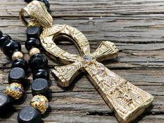 Sterling Silver Egyptian Cross Ankh Ank ANKH EGYPTE Celtique Collier Pendentif