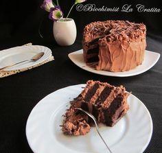 Biochimist La Cratita: Tort de ciocolata (de post) - Vegan Chocolate Cake...