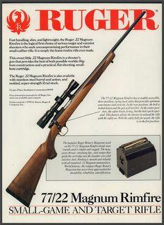 1991 RUGER 77/22 Magnum Rimfire Rifle AD : Other Collectibles at GunBroker.com