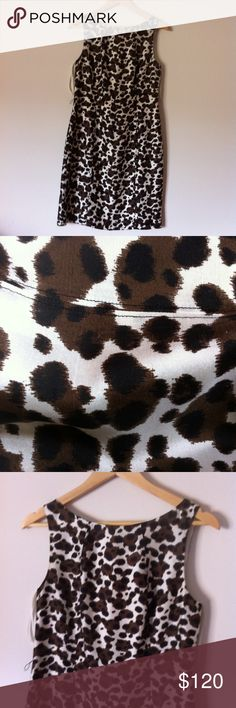 Ann Taylor Cheetah Animal Print Sleeveless Dress Make me an offer on this item! All $6 items are final price, however they are Buy 1 Get 1 Free! Free Gift With Purchase. Bundle & Save, 3+ items gets you 15% off!  Condition: Preowned Made In: 2000s Flaws: Missing Belt-However I can include a black or brown one! Unique Details: Cute Pattern Closure Details: Zipper Retails For: $140 Item Size: Size 8 Brand: Ann Taylor Color: Browns & White  Questions? Comments? Concerns? Message me!  SMOKE FREE…