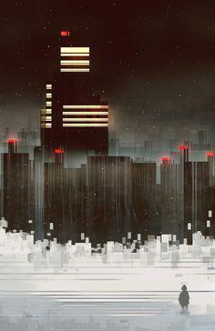 Scott Uminga Visual Art Illustrator Illustrators Illustrations - City skylines turned into geometric metropolises by scott uminga