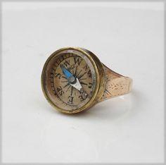 antique compass ring