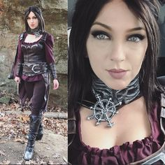 """Shot some Serana (Skyrim) photos! Costume made by @yelainamaycosplay and I just added some weathering. We found some cool caves and rock formations here in Arkansas. Here are some phone pics to hold everyone over til I get back home and edit some of the photos! I'll be adding her vampire eyes in post. Ill probably also do a photo or two as """"cured"""" Serana."""