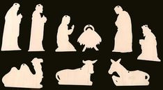 12 Piece Set Nativity Scene Christmas Ornaments WITH HOLES Natural Craft Wood 913 - Cutout measurements are listed below. You will see a black background cut out of the wood through t - Christmas Nativity, Christmas Wood, Christmas Projects, Christmas Ornaments, Scroll Saw Patterns, Wood Patterns, Idees Cate, Outdoor Nativity, Kids Wood