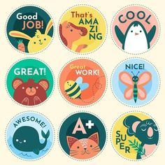 Reward Stickers, Teacher Stickers, Job Letter, English Projects, Happy Words, Positive Words, Colorful Wallpaper, Book Illustration, Learn English