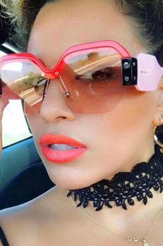 d35a3f6d15750 Simone - Oversized Semi Rimless Sunglasses 60mm