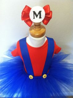Mario inspired Tutu Costume this one would be cute for two friends one luigi and the other Mario