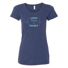 Women, Navy Triblend polyester/airlume combed and ringspun cotton/rayon Semi-relaxed fit, side seams ( Size Chart This item runs small, consider sizing up Make A Family, Star Wars Tshirt, Our Lady, Baby Knitting, Size Chart, T Shirts For Women, Fabric, Spun Cotton, Mens Tops