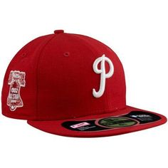 32e41f411 New Era Philadelphia Phillies 1952 Cooperstown All-Star Patch Fitted Hat -  Red/White - Phillies Gear - Ultimate Phillies Fan Portal