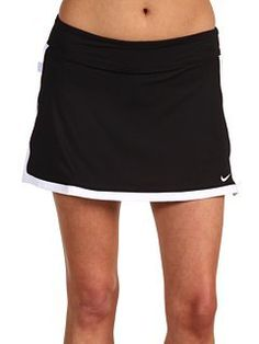 NIKE BORDER SKIRT (WOMENS) - M by Nike. $44.32. Dri-FIT jersey knit tennis skirt. Waistband has power mesh inside for a smooth and supportive fit. Internal Dri-FIT jersey shorts allows for full range of motion, ball storage and coverage. Contrast color border detail is bold and stylish. Hem vents at the sides enhance mobility and ventilation. Skirt is 34cm in length. Woven Tennis Court label on the upper right side panel. Swoosh design trademark embroidered on the lower left h...