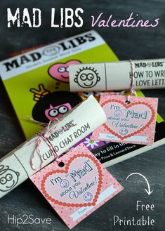 Mad Libs Classroom Valentine Idea (+ Free Printable)