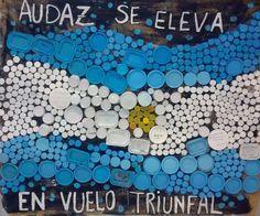 Cómo hacer banderas argentinas con diferentes materiales | Como hacer Todo Tapas, Toddler Discipline, Cold Porcelain, Classroom Decor, Event Decor, Sunday School, Quilling, Ideas Para, Little Ones