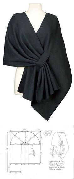 Modisches Nähen - Handwerk Un abito (noto anche come abito. Modisches Nähen - Handwerk Un abi. Tunic Sewing Patterns, Clothing Patterns, Dress Patterns, Fashion Sewing, Knit Fashion, Fashion Outfits, Diy Clothing, Sewing Clothes, Refashion
