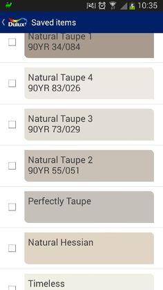 Dulux taupe paints