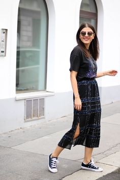 How to rock sequins during the day