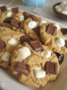 Left over Halloween candy..  Peanut Butter S'more Cookies - a little taste of heaven? Pretty sure!