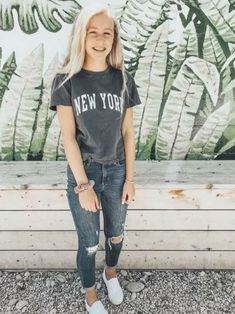 School Outfits For Teen Girls, Outfits Teenager Mädchen, Teenager Mode, Cute Teen Outfits, Cute Comfy Outfits, Teen Fashion Outfits, Mode Outfits, Cute Outfits With Jeans, Spring Outfits For School