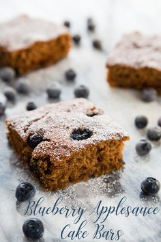 Blueberry Applesauce Cake Bars | FatFree Vegan Kitchen