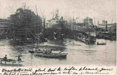 """ Ship Yards Philadelphia, Pennsylvania "" Karodens Vintage Post Cards."