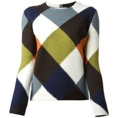 VALENTINO diamond colour block sweater