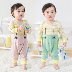 >> Click to Buy << Newborn Baby Clothes Cartoon Bee Rompers Long Sleeve Baby Girls Jumpsuit Spring Baby Boy Clothing Roupas Bebes Infant Costume #Affiliate