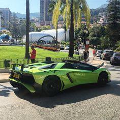 Lamborghini Aventador Super Veloce Roadster painted in Verde Ithaca  Photo taken by: @sebdelanney on Instagram
