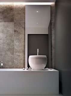 Shades of taupe for the contemporary bathroom by Poland-based studio Arch 515 _