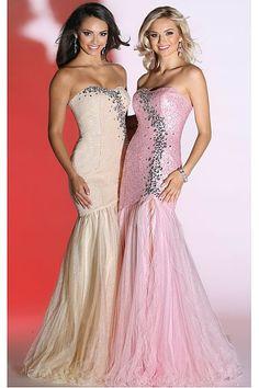 Long Sheath Sleeveless Dropped Prom Dresses - by OKDress UK