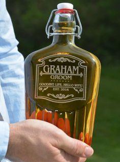 Groomsmen Flask Mens Wedding Gift by UrbanFarmhouseTampa on Etsy
