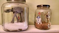 Star Wars Character Terrariums - Great craft for SciFi lovers!