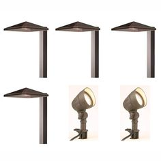 Hampton Bay Low Voltage Bronze Outdoor Integrated Led Landscape Light Kit With 2 Flood Lights And 4 Path 6 Pack Iww6626l