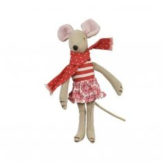 MAILEG MOUSE WITH SKIRT & SCARF