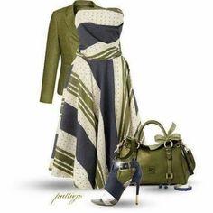 Love this olive green ensemble