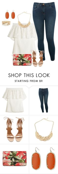 plus size simple and chic summer nights by kristie-payne on Polyvore featuring TIBI, M&Co, Aquazzura, Jessica McClintock, Kendra Scott and River Island