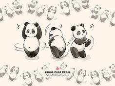 Panda Food Dance If you are a Dancer, check out this Dancer collection, you may like it :) http://teechip.us/dancer #dancer #dancinglovers #dancingtips