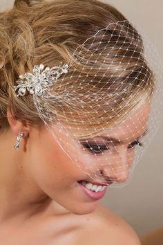 Stella Bridal Rhinestone Birdcage Veil