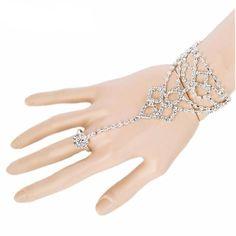 Ladies Upper Arm Slave Jewelry Lace Armband Armlet Bracelet Green Rhinestone Gem