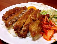 台湾のお弁当:パイコー丼/懷念的古早味排骨飯