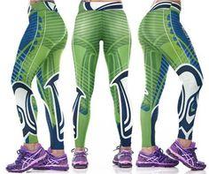 Sexy Printed Sporting Leggings Women High Elastic Wide Band Waist 3D Gothic Leggings Pants 12 Pattern Designs Foot-Ball SM4L028