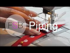 Sewing with Piping - YouTube