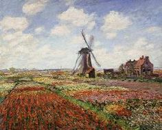 Claude Monet - Tulip Fields with the Rijnsburg Windmill